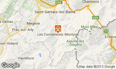 Mapa Les Contamines Montjoie Apartamento 17080