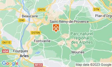 Mapa Les Baux de Provence Casa rural 13098