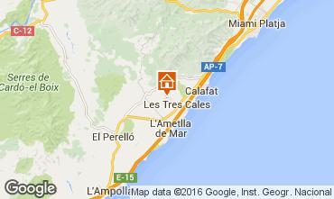 Mapa La Ametlla de Mar Villa 39325