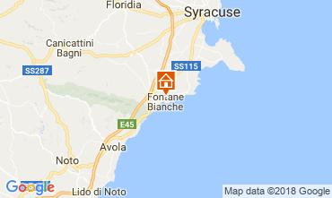 Mapa Fontane Bianche Villa 115758