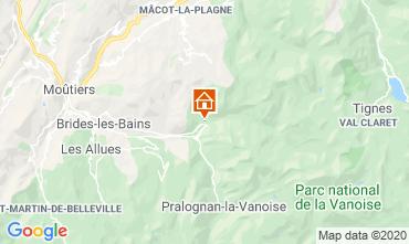 Mapa Champagny en Vanoise Apartamento 102107
