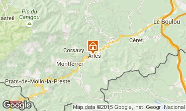 Mapa Am�lie-Les-Bains Casa 93534