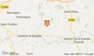 Mapa Bergerac Casa rural 111984