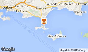 Mapa Hyères Apartamento 79826