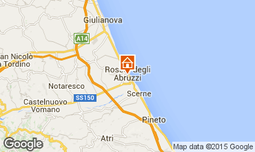 Mapa Roseto degli Abruzzi Apartamento 98649