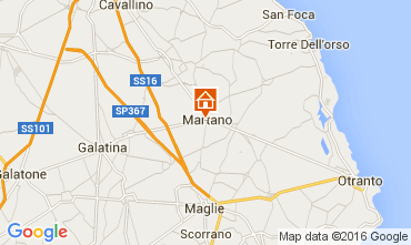 Mapa Martano Villa 103268