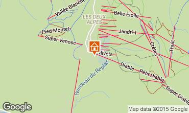 Mapa Les 2 Alpes Apartamento 65681