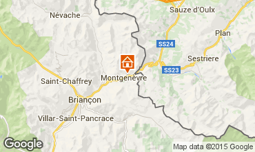 Mapa Montgenevre Apartamento 45145