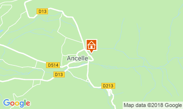 Mapa Ancelle Chalet 116834