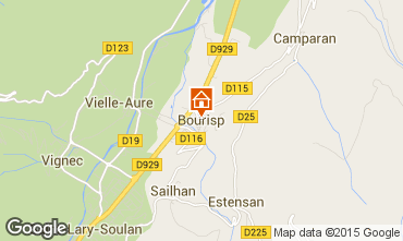 Mapa Saint Lary Soulan Chalet 95699