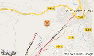 Mapa Saint Gervais Mont-Blanc Chalet 68082