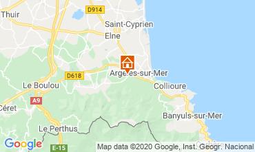 Mapa Argeles sur Mer Apartamento 24650