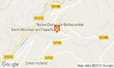 Mapa Notre Dame de Bellecombe Apartamento 2023