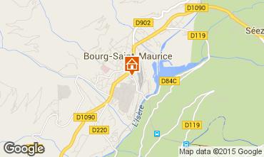 Mapa Bourg saint Maurice Estudio 239