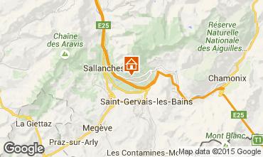 Mapa Chamonix Mont-Blanc Chalet 651