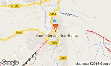 Mapa Saint Gervais Mont-Blanc Chalet 36087