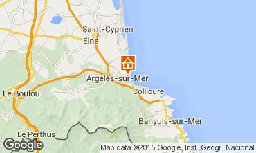 Mapa Argeles sur Mer Apartamento 54598