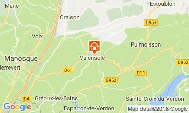 Mapa Valensole Villa 65599