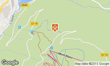 Mapa Les Arcs Chalet 322