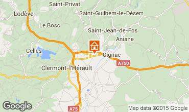 Mapa Montpellier Casa rural 35163