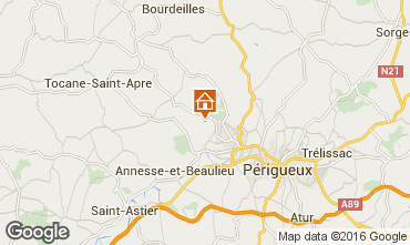 Mapa Périgueux Casa rural 54756
