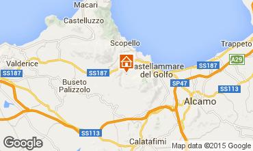 Mapa Castellammare del Golfo Villa 77449