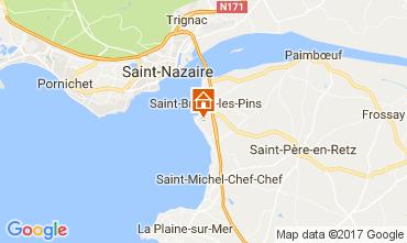 Mapa Saint Brevin les Pins Casa 107814