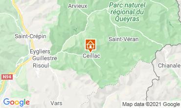 Mapa Ceillac en Queyras Estudio 561