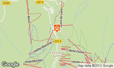 Mapa Les 2 Alpes Apartamento 87167
