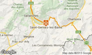 Mapa Saint Gervais Mont-Blanc Apartamento 2561