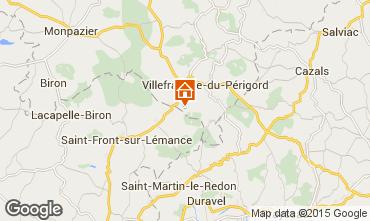 Mapa Villefranche du Périgord Casa rural 51192