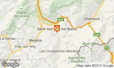 Mapa Saint-Gervais-les-Bains Apartamento 2555