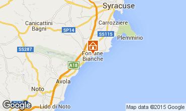 Mapa Fontane Bianche Villa 77117