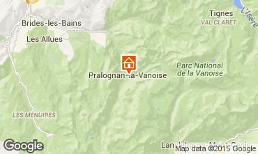 Mapa Pralognan la Vanoise Apartamento 2287