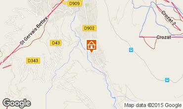 Mapa Saint Gervais Mont-Blanc Apartamento 58539