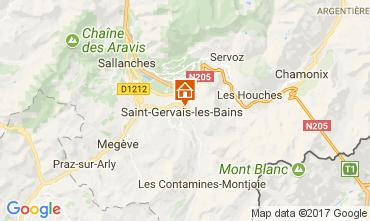 Mapa Saint Gervais Mont-Blanc Apartamento 112570