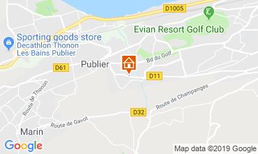 Mapa Evian les Bains Apartamento 106719
