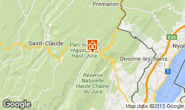 Mapa Monts Jura Apartamento 59712