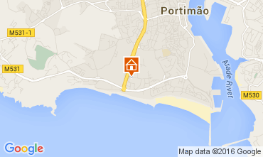 Mapa Praia da Rocha Apartamento 101282