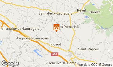 Mapa Carcassonne Casa rural 84754