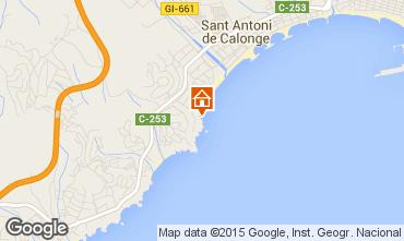 Mapa Sant Antoni de Calonge Apartamento 98168