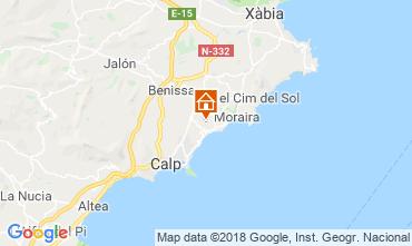 Mapa Moraira Villa 109716