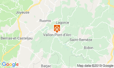 Mapa Vallon-Pont-D'Arc Apartamento 32319
