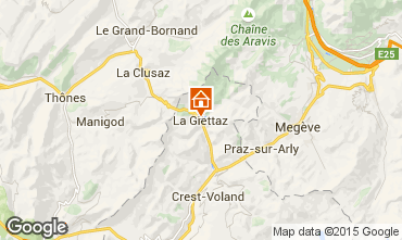 Mapa La Giettaz en Aravis Apartamento 74256