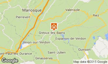 Mapa Gr�oux Les Bains Estudio 14270
