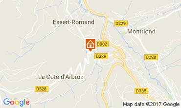 Mapa Morzine Chalet 112228