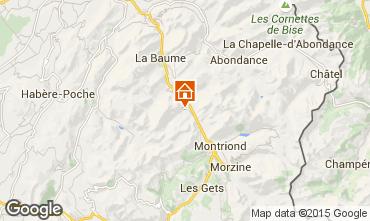 Mapa Saint Jean d'Aulps- La Grande Terche Apartamento 42356