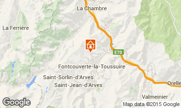 Mapa La Toussuire Apartamento 36861