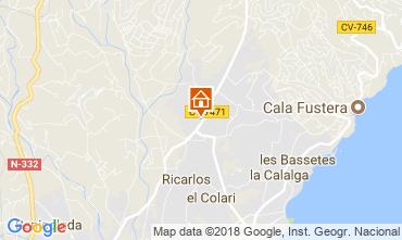 Mapa Calpe Villa 114094