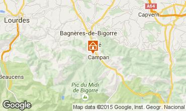 Mapa Bagnères de Bigorre Casa rural 70295